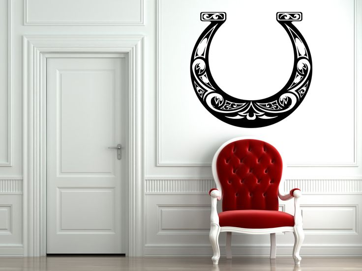 wall vinyl sticker decals mural room design pattern horseshoe luck happiness mi309 by roomdecalsanddesigns on etsy - Wall Vinyl Designs