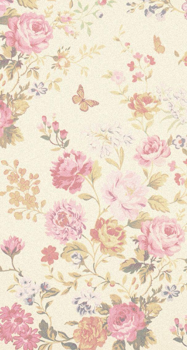 Vintage floral lockscreen Wallpapers Pinterest