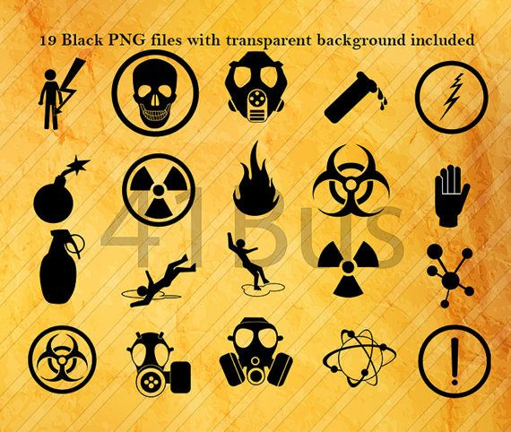 21 WARNING SYMBOL clipart png  psd eps ai by 41Bus on Etsy