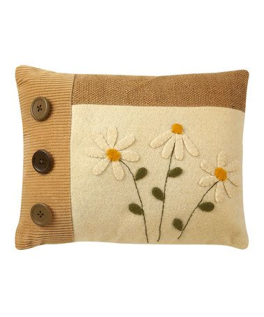 Take a look at this Grow Daisy Pillow by Collins on #zulily today!