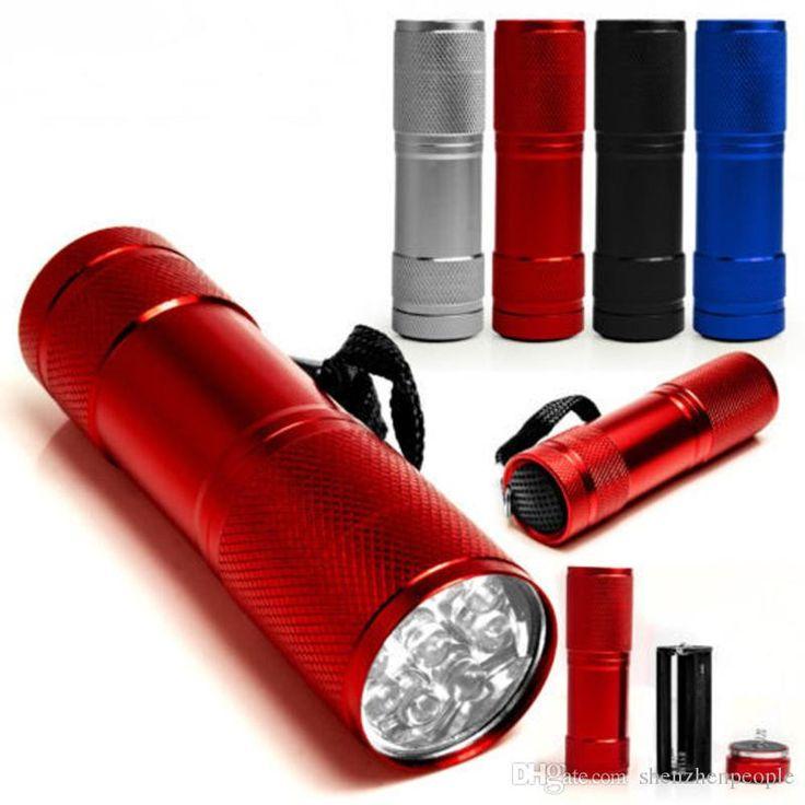 9 LED Mini Torch 4 Colors Mini LED Flashlight 300LM LED Camping Flashlight Torch Waterproof Flashlights Lamp 3AA Battery Powered Torches