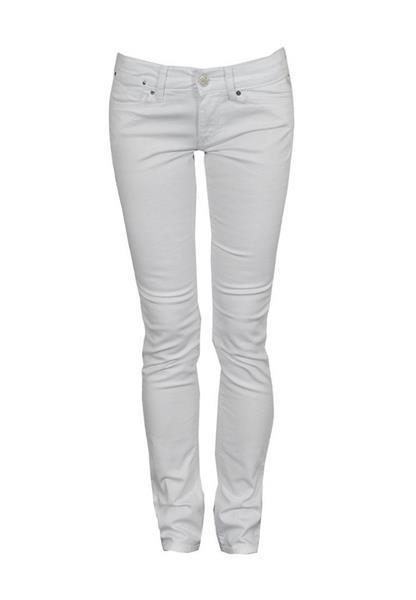 Белые джинсы женские узкие