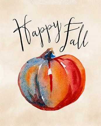 happy fall. | paper canoe printables
