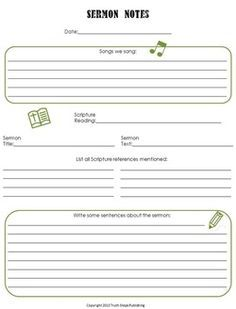 Best 25 sermon notes ideas on pinterest free sermons sermons free sermon notes for older children pronofoot35fo Image collections