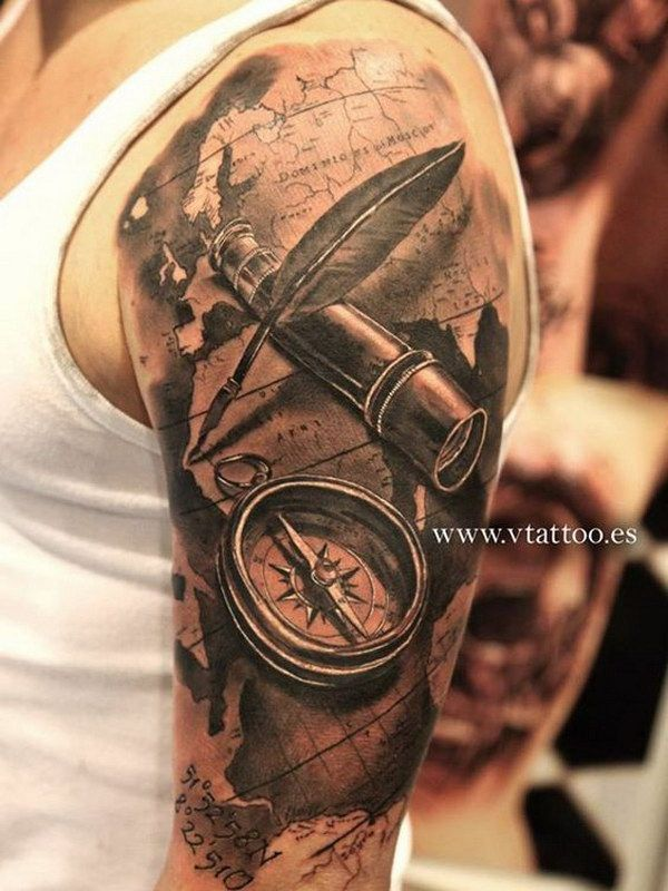 b0383bf59 3D Half Sleeve Tattoo Design for Men. | Awesome tattoos | Tattoo ...