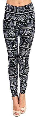 Womens Girls Leggings Lush Moda Extra Soft Leggings with Tribal Designs Variety of Prints