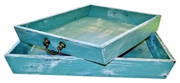 Green Nesting Trays mediterranean-storage-boxes