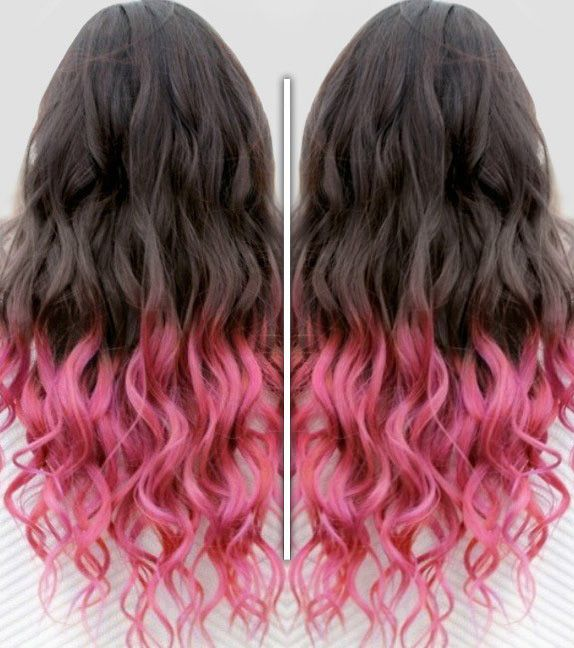 50 best pink ombre hair styles extensions images on pinterest brown and pink ombre ombrehair curlyhair hairextension fohair pinkhair unique hairclip in hair extensionscolourful pmusecretfo Image collections