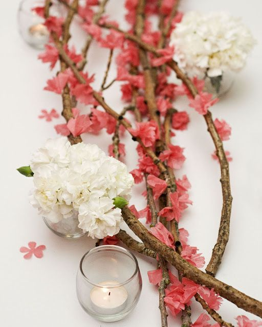 {DIY} Cherry Blossom Branches  {A Well Crafted Party}