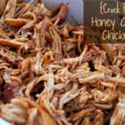 Crock Pot Honey Garlic Chicken by Tablefor7