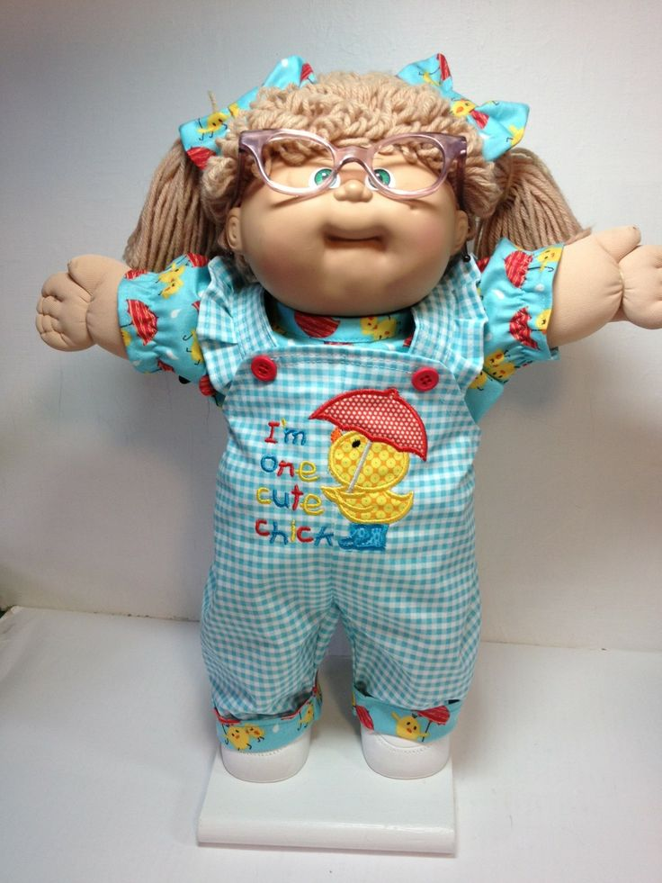 Cabbage Patch I'm One Cute Chick Overall (Applique and Embroidery)