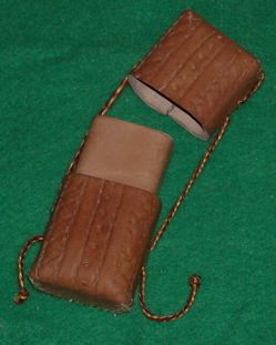 Making a Stamped Leather Case for needles, etc.