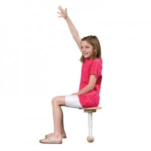T-Stool Rocker The Balance Board Seat With a Rocker Bottom •Encourages Core Stability and Focus •Enables Work on Balance Reactions •Provides Active Seat For Sensory Seekers •Use as Part of a Sensory Diet
