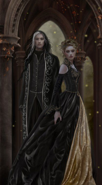 Young King Azriel and young Queen Maureen Donahue (as Azriel has no last name, at least recorded, their children took their mother's maiden name)
