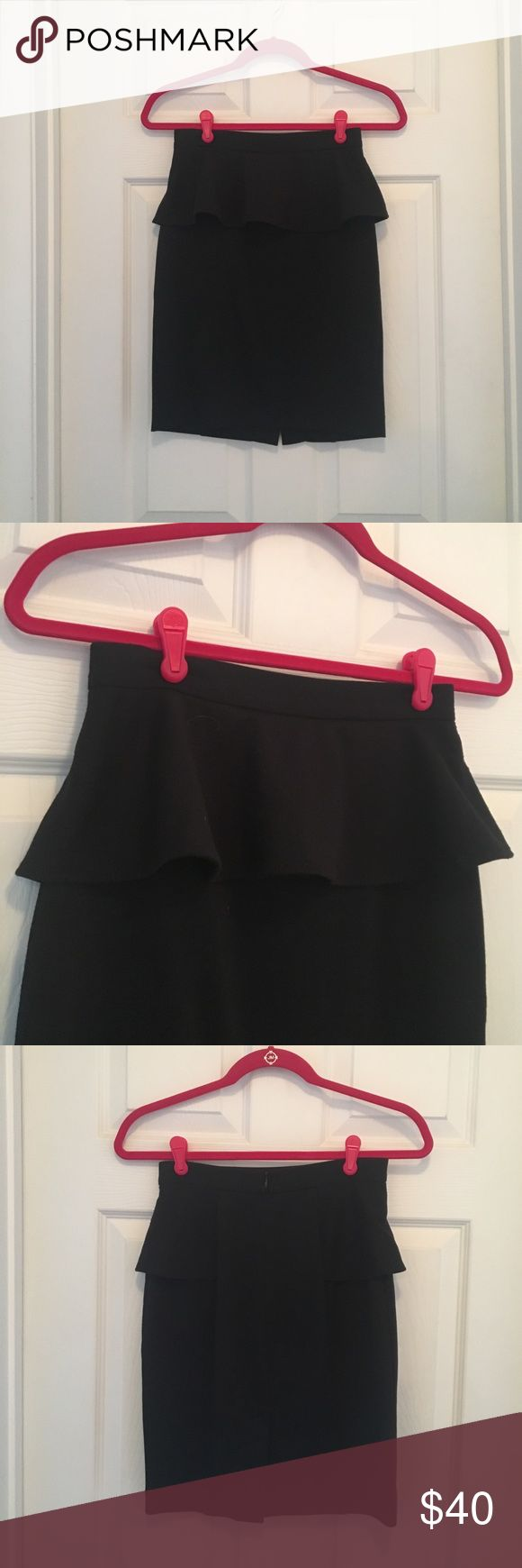 Club Monaco Black Peplum skirt Peplum Skirt - lightly used, great condition. Club Monaco Skirts
