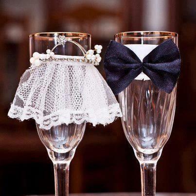 Decoración copas para bodas