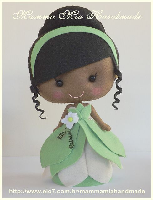 Tiana - Apostila PDF | Flickr – felt doll princess and the frog