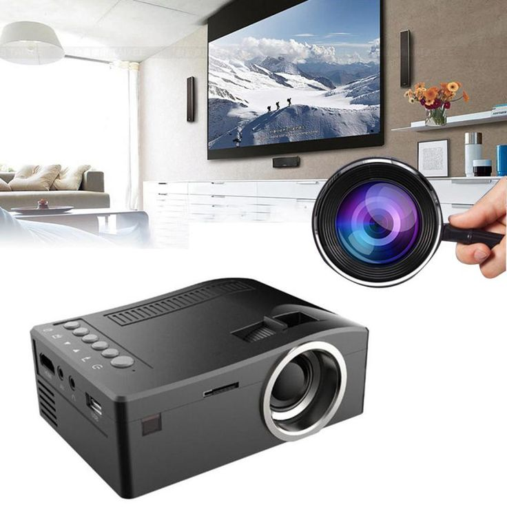 1080P HD LED Home MulitMedia Theater Cinema USB TV VGA SD HDMI Projector 2017