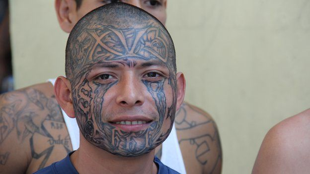 El salvador gang truce can ms 13 and 18th street keep the for Street sign tattoos