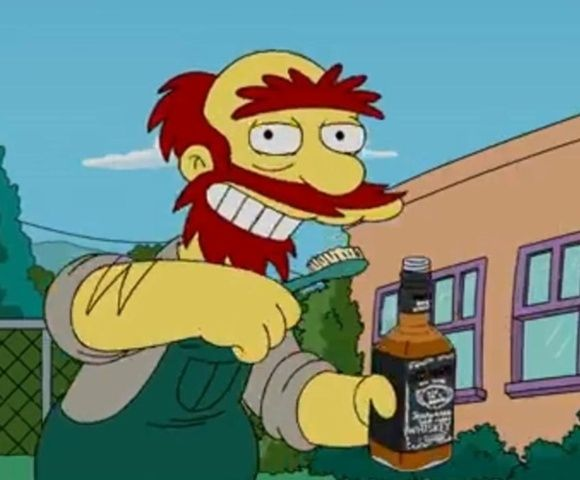 Groundskeeper Willie from The Simpsons | 16 Most Epically Famous Unibrows
