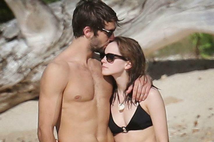 Emma Watson and new boyfriend Matt Janney on the beach in Antigua