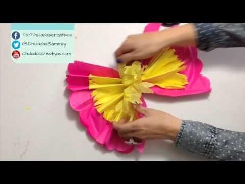 Chuladas Creativas ::Flores Primaverales Parte 2 :: Flores de Papel Manualidades - YouTube