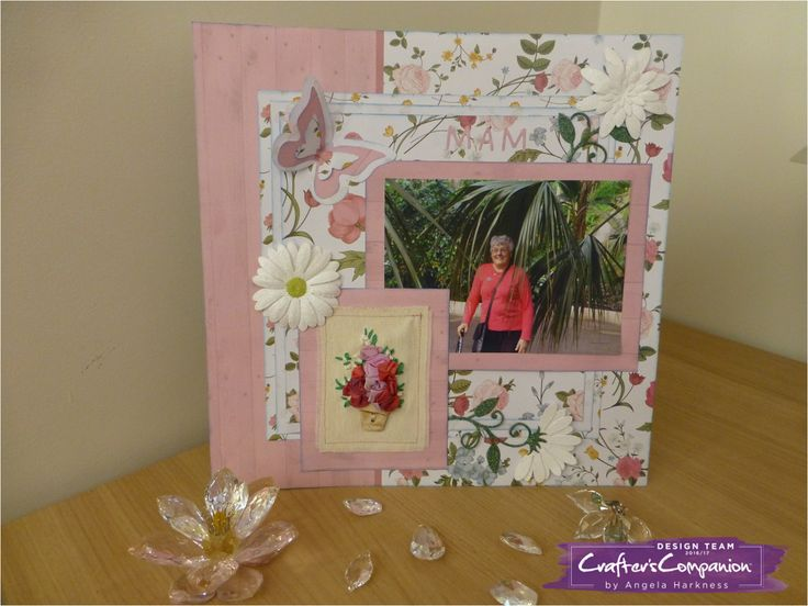 12x12 scrapbook layout using Sara Signature English Country Garden Collection - Designed by Angela Harkness #crafterscompanion #ccscrapbooking #scrapbook #scrapbooking #12monthsofscrapbooking