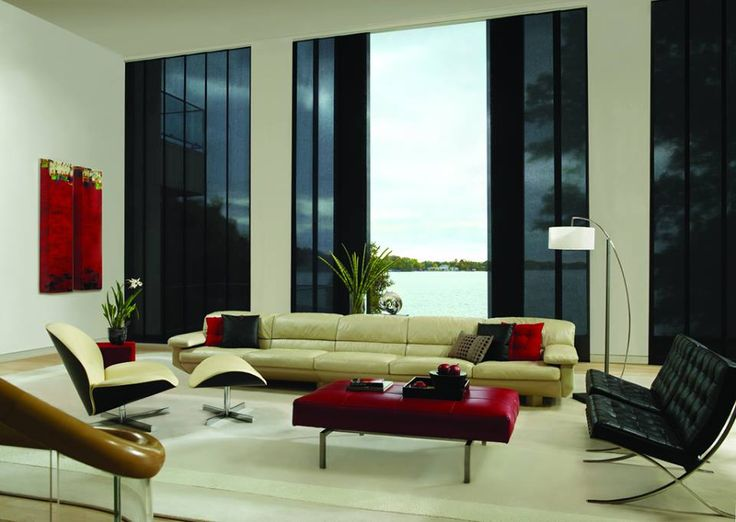 Hunter Douglas Skyline Vertical Blinds Modern Living RoomsLiving Room
