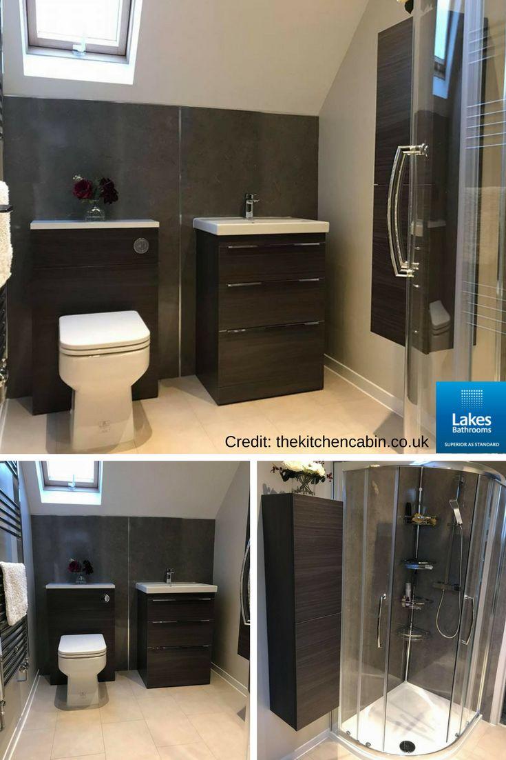 Fabulous bathroom installation by thekitchencabin.co.uk featuring our Double Door Offset Quadrant.   #bathroomdesign #bathroominspiration #reallakesbathrooms