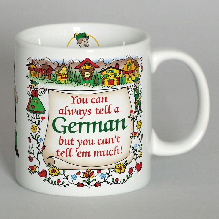 """Tell A German"" German Gift Mug"