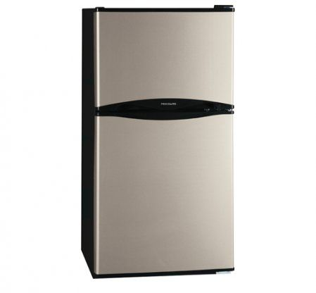 """Save a lot of money at www.DiscountBandit.com. Seriously, check them out; they have the best deals on tons of stuff! Frigidaire FFPS4533QM 22"""" Energy Star Rated Compact Top-Freezer Refrigerator with 4.5 Cu. Ft. Capacity  Adjustable Shelves  Clear Crisper Drawer and Reversible Door in Silver Mist"""