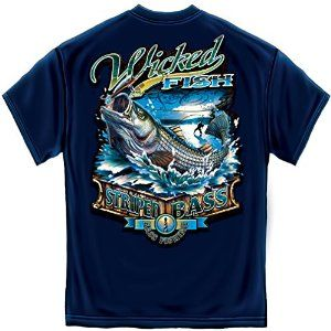Wicked Fish - Striped Bass - T-Shirt - Visit to see more options