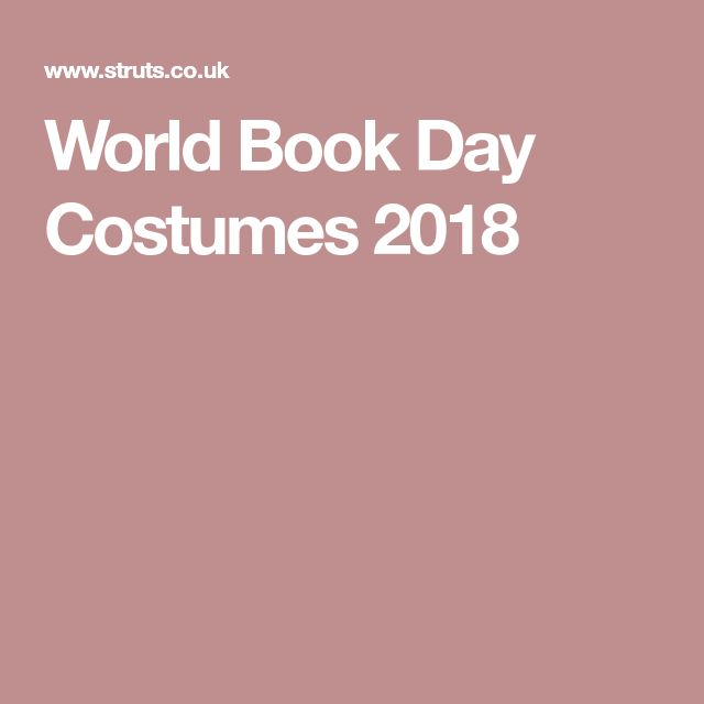 World Book Day Costumes 2018
