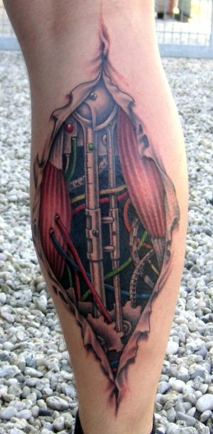 Se você está querendo fazer uma tatuagem moderno e elaborada, tatuagens biomecânicas é uma ótima escolha. Tatuagens biomecânicas é um estilo de tatuagem que simulam partes mecânicas e robóticas por baixo da carne.