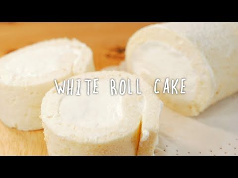 (ENG)새하얀 롤케이크 真っ白ロールケーキ How to make a White roll cake [스윗더미 . Sweet The MI]