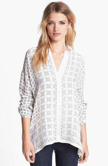 Vince Print Silk Blouse available at #Nordstrom
