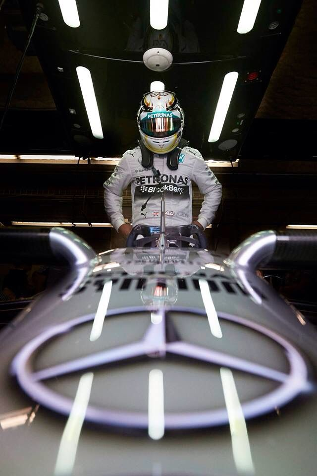 In the Paddock w/Lewis Hamilton ahead of the 2014 #F1 Grand Prix at Circuit of The Americas