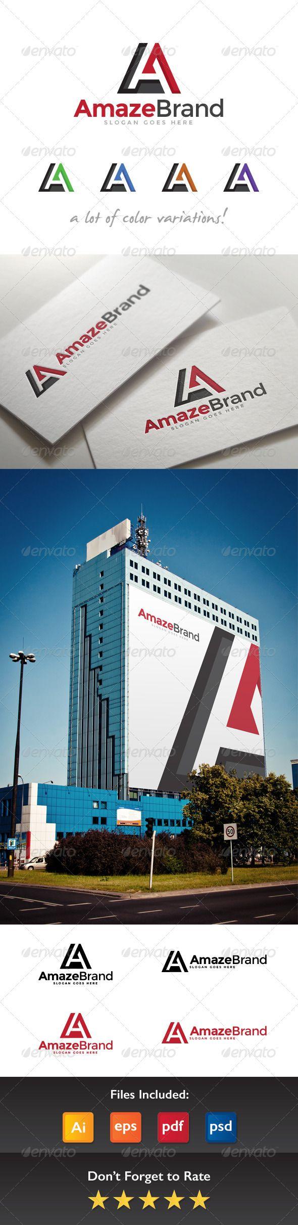 Amaze Brand Letter A Logo  #software #studio #$29