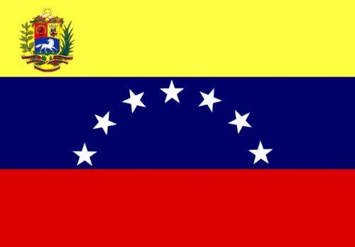 Mi bandera, la de 7 con el escudo que tiene que ser... así Guayana se quede fuera, NADA QUE HAYA INVENTADO CHIABE ME GUSTA. El Esequibo también se quedó fuera y los chavistas ni bola le paran, así que no vengan con su doble moral de que si soy apátrida porque no me gusta la octava estrella ni el escudo de mierda que hay ahorita, porque REGALAR EL ESEQUIBO SÍ ES SER APÁTRIDA.