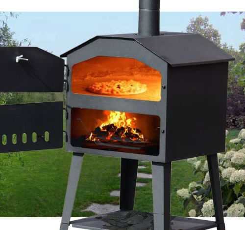 Great Outdoor Kitchen Complete With Pizza Oven: Pizza Oven BBQ Wood Fired Outdoor Yard Garden Steel