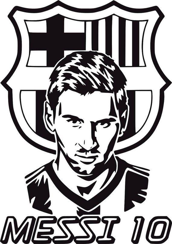 Barcelona #FC football Club Team Logo Wall Art Sticker #Messi Vinyl Decal Mural #Soccer Unofficial
