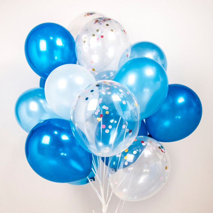 Confetti balloons - blue blue blue, set of 14 or 20 or 40 boys party, baby shower, wedding, sky, water - AU free shipping by TokyoSaturday on Etsy https://www.etsy.com/au/listing/465900978/confetti-balloons-blue-blue-blue-set-of