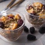 Gluten Free Peach and Blackberry Crumble