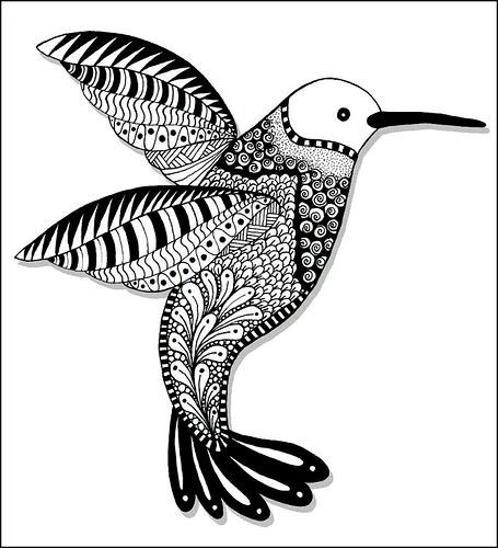 Hummingbirds House Ideas Photos Zentangle Coloring Art Therapy Pictures Haus
