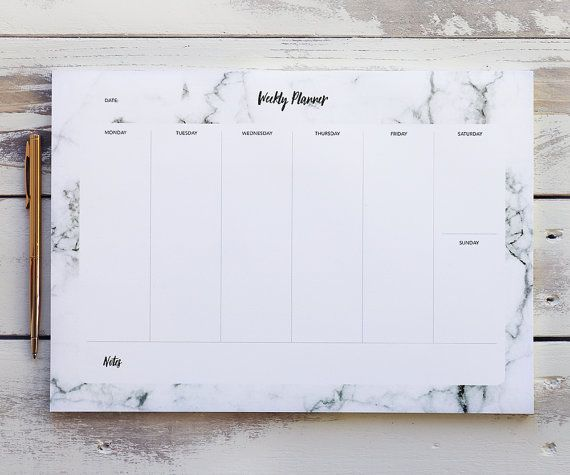 Start each week with our stylish A4 weekly planner. This marble desk pad comes with 52 tear-off sheets to keep you organised throughout the year. It would make the perfect addition to any desk with its on-trend monochrome theme.  A great gift for any stationary lover, or a nice little treat for yourself. This multi-use planner can help you keep on top of your to-do list, plan meals in the kitchen, double up as a fitness planner, and of course perfect for any student, busy mum or office…