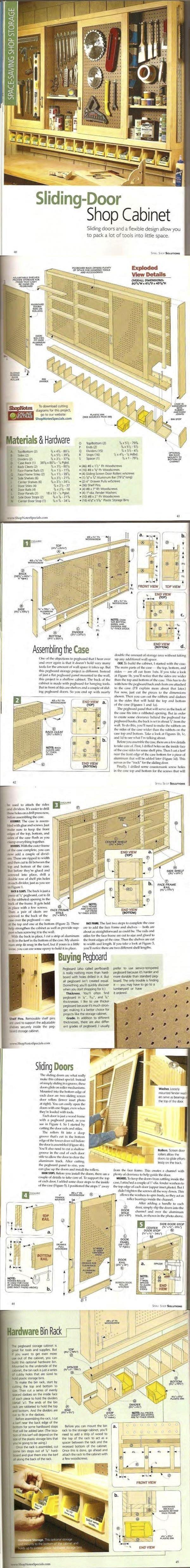 Sliding-Door Shop Cabinet / ShopNotes Magazine - Small Shop Solutions 1