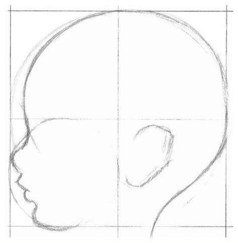 Auf folgende Seite erkennen Sie, wie kann man ganz einfach ein Baby malen – Anle…