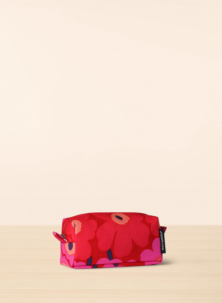 TAIMI MINI UNIKKO COSMETIC BAG RED/PINK