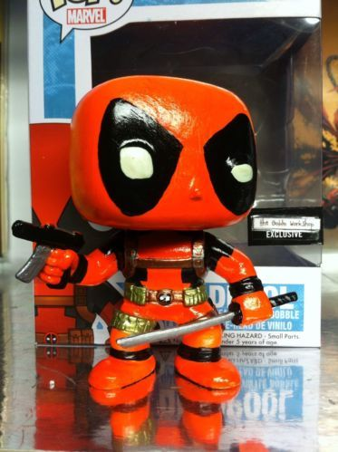 deadpool funko Xmen Custom Blacklight Re-paint Marvel