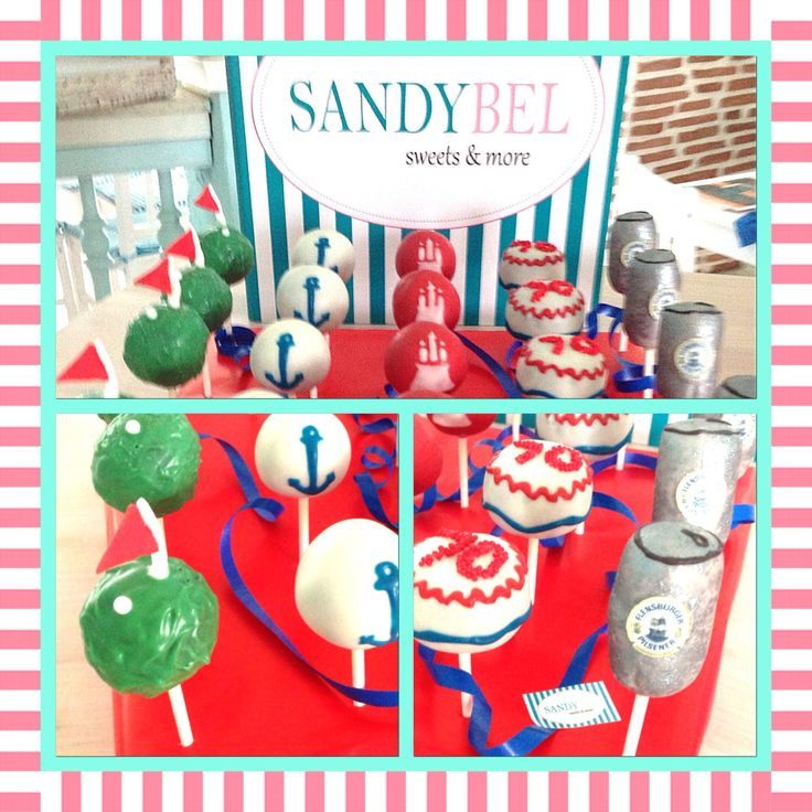 Hamburg, Golf und Dosenbier zum Geburtstag #cakepops by #sandybel #hamburg #golf #dosenbier #fürth #sweets